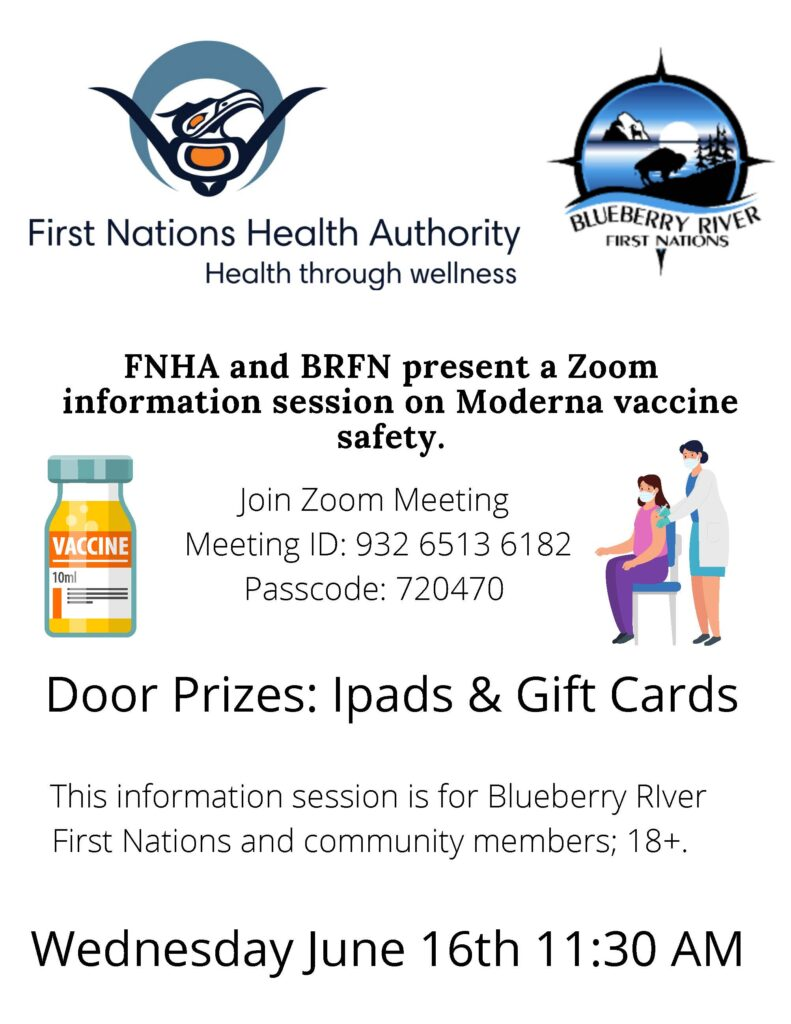 FNHA Zoom Session for Moderna Vaccine