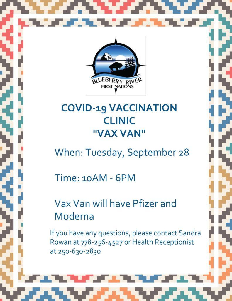 Vaccination Clinic at BRFN Today
